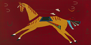 American Indian Horse Leaps Through Arrows No. 152 Horse